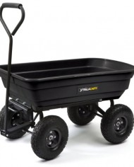 Gorilla-Carts-GOR200B-Poly-Garden-Dump-Cart-with-Steel-Frame-and-10-Inch-Pneumatic-Tires-600-Pound-Capacity-36-Inch-by-20-Inch-Bed-Black-Finish-0