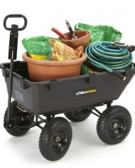 Gorilla-Carts-GOR866D-Heavy-Duty-Garden-Poly-Dump-Cart-with-2-In-1-Convertible-Handle-1200-Pound-Capacity-40-Inch-by-25-Inch-Bed-Black-Finish-0-1