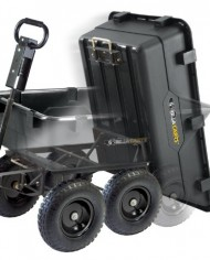 Gorilla-Carts-GOR866D-Heavy-Duty-Garden-Poly-Dump-Cart-with-2-In-1-Convertible-Handle-1200-Pound-Capacity-40-Inch-by-25-Inch-Bed-Black-Finish-0-6
