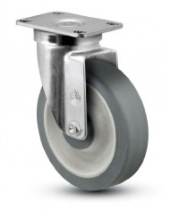 Jarvis-30-Series-4-Diameter-Advantage-TPR-Flat-Wheel-Swivel-Plate-Caster-with-Delrin-Bearing-3-58-Length-X-2-38-Width-Plate-300-lbs-Capacity-0