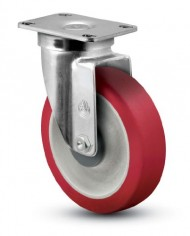 Jarvis-30-Series-5-Diameter-Advantage-Heat-Flat-Wheel-Swivel-Plate-Caster-with-Stainless-Steel-Ball-Bearing-3-58-Length-X-2-38-Width-Plate-300-lbs-Capacity-0