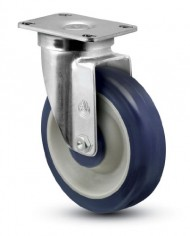 Jarvis-30-Series-5-Diameter-PolyLoc-Blue-Wheel-Swivel-Plate-Caster-with-Ball-Bearing-3-58-Length-X-2-38-Width-Plate-300-lbs-Capacity-0