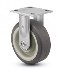 Jarvis-81-Series-4-Diameter-Advantage-TPR-Flat-Wheel-Rigid-Plate-Caster-with-Roller-Bearing-4-12-Length-X-4-Width-Plate-350-lbs-Capacity-0