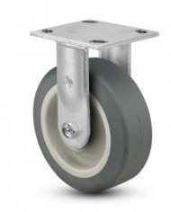 Jarvis-81-Series-5-Diameter-Advantage-TPR-Flat-Wheel-Rigid-Plate-Caster-with-Roller-Bearing-4-12-Length-X-4-Width-Plate-375-lbs-Capacity-0