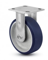 Jarvis-81-Series-5-Diameter-Moldon-Polyurethane-with-Aluminum-Core-Wheel-Rigid-Plate-Caster-with-Roller-Bearing-4-12-Length-X-4-Width-Plate-900-lbs-Capacity-0