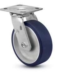 Jarvis-81-Series-5-Diameter-Moldon-Polyurethane-with-Aluminum-Core-Wheel-Swivel-Plate-Caster-with-Roller-Bearing-4-12-Length-X-4-Width-Plate-900-lbs-Capacity-0