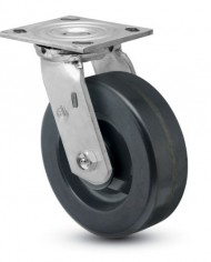 Jarvis-81-Series-5-Diameter-Phenolic-Wheel-Swivel-Plate-Caster-with-Roller-Bearing-4-12-Length-X-4-Width-Plate-1000-lbs-Capacity-0