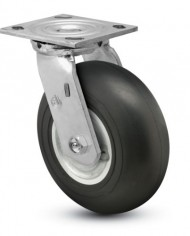 Jarvis-81-Series-6-Diameter-High-Modulus-Rubber-Donut-Wheel-Swivel-Plate-Caster-with-Ball-Bearing-4-12-Length-X-4-Width-Plate-350-lbs-Capacity-0