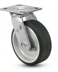 Jarvis-81-Series-6-Diameter-Moldon-Rubber-with-Aluminum-Core-Wheel-Swivel-Plate-Caster-with-Roller-Bearing-4-12-Length-X-4-Width-Plate-410-lbs-Capacity-0