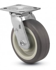 Jarvis-81-Series-6-Diameter-PolyLoc-Gray-Wheel-Swivel-Plate-Caster-with-Roller-Bearing-4-12-Length-X-4-Width-Plate-800-lbs-Capacity-0