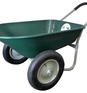 Marathon-Industries-70015-5-Cubic-Feet-Poly-Residential-Yard-Rover-Green-Wheelbarrow-with-Dual-Pneumatic-Air-Filled-Tires-and-Cushion-Grip-Handle-0