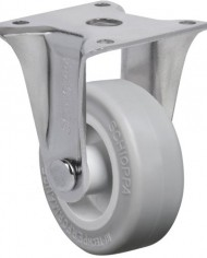Schioppa-FLAP-210-SP-2-50-mm-Rigid-Non-Brake-Caster-Non-Marking-Very-Soft-Rubber-Wheel-70-lbs-Plate-1-2132-x-1-2132-BH-1-14-x-1-14-0
