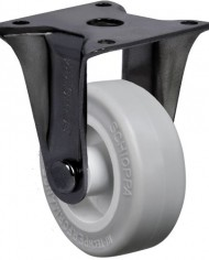 Schioppa-FLAP-210-SP-BR-2-50-mm-Rigid-Non-Brake-Caster-Non-Marking-Very-Soft-Rubber-Wheel-70-lbs-Plate-1-2132-x-1-2132-BH-1-14-x-1-14-0