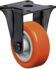 Schioppa-FLAP-210-UP-BR-2-50-mm-Rigid-Non-Brake-Caster-Non-Marking-Polyurethane-Wheel-70-lbs-Plate-1-2132-x-1-2132-BH-1-14-x-1-14-0