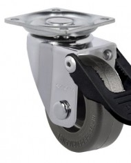 Schioppa-GLAP-210-NT-FPI-2-50-mm-Swivel-Brake-Caster-Black-Nylon-Wheel-70-lbs-Plate-1-2132-x-1-2132-BH-1-14-x-1-14-0