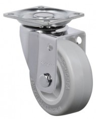 Schioppa-GLAP-210-SP-2-50-mm-Swivel-Non-Brake-Caster-Non-Marking-Very-Soft-Rubber-Wheel-70-lbs-Plate-1-2132-x-1-2132-BH-1-14-x-1-14-0