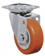 Schioppa-GLAP-210-UP-2-50-mm-Swivel-Non-Brake-Caster-Non-Marking-Polyurethane-Wheel-70-lbs-Plate-1-2132-x-1-2132-BH-1-14-x-1-14-0