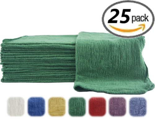 Utopia-Cotton-Auto-Shop-Towels-25-Pack-Green-0