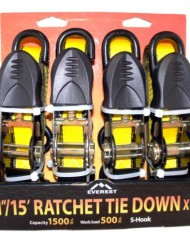 Everest-S1043-Yellow-1-x-15-Standard-Ratchet-Tie-Down-Pack-of-4-0