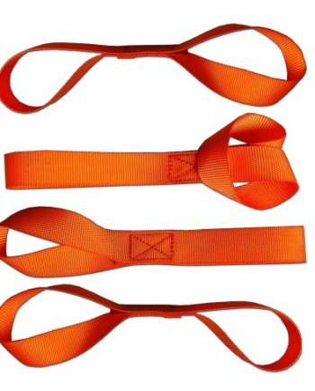 Soft-Loops-Tie-Down-Straps-4-Pack-1200-lb-Working-Load-Capacity-Factory-Tested-at-2272-lb-Break-Strength-See-Testing-Photo-in-Sidebar-Safety-Neon-Orange-Color-Protects-Your-ATV-Snowmobile-UTV-Motorcyc-0