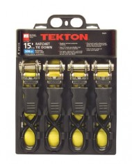 TEKTON-6223-15-Foot-by-1-Inch-Premium-Ratchet-Tie-Downs-4-Piece-0-0