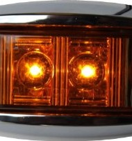 2-RED-2-AMBER-2-AutoSmart-KL-15114RE-Oval-LED-ClearanceSide-Marker-Light-with-Chrome-Bezel-for-TRUCK-TRAILER-0-2