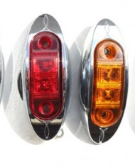 2-RED-2-AMBER-2-AutoSmart-KL-15114RE-Oval-LED-ClearanceSide-Marker-Light-with-Chrome-Bezel-for-TRUCK-TRAILER-0-4