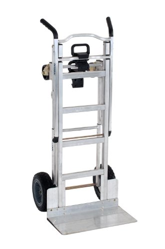 Cosco-Products-12312ABL1E-3-in-1-Aluminum-Hand-TruckAssisted-Hand-TruckCart-with-Flat-Free-Wheels-AluminumBlack-0