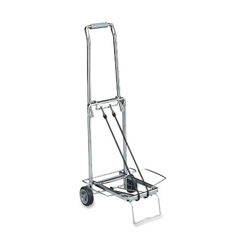 Sparco-Compact-Luggage-Cart-Easy-Grip-Handle-Flip-Out-Support-Platform-150-lb-Capacity-Chrome-0