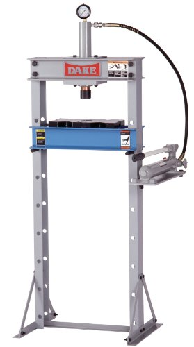 Dake-F-10-Model-Manual-Utility-Hydraulic-Floor-Press-10-Ton-Capacity-24-Length-x-28-Width-x-60-Height-0
