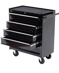 HomCom-Rolling-Tool-Cabinet-Chest-with-5-Drawers-Black-0-0
