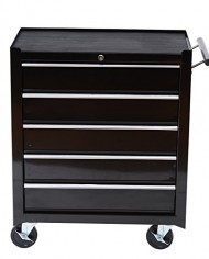 HomCom-Rolling-Tool-Cabinet-Chest-with-5-Drawers-Black-0-1