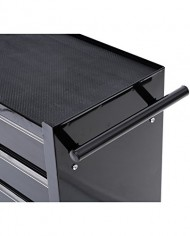 HomCom-Rolling-Tool-Cabinet-Chest-with-5-Drawers-Black-0-4