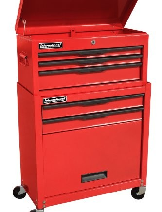 International-C-105BB-25-Inch-5-Drawer-Red-Chest-and-Cabinet-Unit-with-Lower-Storage-Area-0