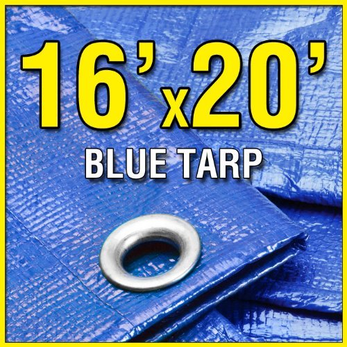 16-X-20-Blue-Multi-Purpose-6-mil-Waterproof-Poly-Tarp-Shade-Cover-16x20-Tarpaulin-by-Grizzly-Tarps-0