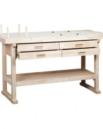 60-Hardwood-Workbench-with-4-Drawers-0
