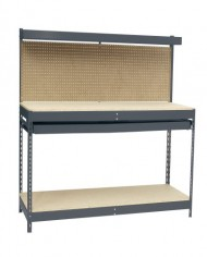 Edsal-MRWB-4-Gray-Heavy-Duty-Steel-Workbench-with-Single-Drawer-48-Width-x-60-Height-x-24-Depth-0