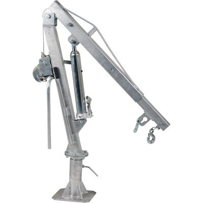 Vestil-WTJ-4-G-Galvanized-Steel-Winch-Truck-Jib-Crane-1000-lb-Extended-Capacity-Extended-Usable-Reach-49-14-Extended-Maximum-Hook-Height-105-Silver-0