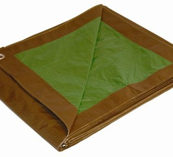 10-x-12-Dry-Top-BrownGreen-Reversible-Full-Size-7-mil-Poly-Tarp-item-110128-0