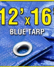 12-X-16-Blue-Multi-purpose-Waterproof-Poly-Tarp-Cover-with-Tent-Shelter-Camping-Tarpaulin-By-Prime-Tarps-0