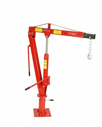 2000-LBS-1-Ton-Swivel-Base-Hydraulic-Engine-Hoist-Foldable-Davit-Crane-fits-Pickup-Truck-with-Removable-Base-0