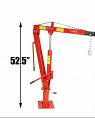 2000-LBS-1-Ton-Swivel-Base-Hydraulic-Engine-Hoist-Foldable-Davit-Crane-fits-Pickup-Truck-with-Removable-Base-0-4
