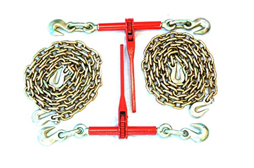 38-Transport-Hauling-Load-Package-2-Ratchet-Binders-2-10-Foot-Chains-0