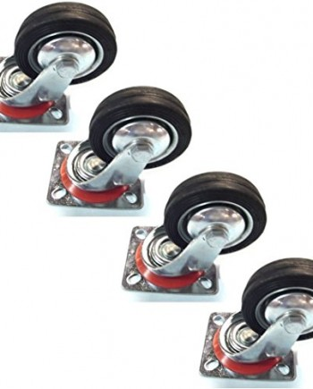 4-Pack-3-Swivel-Caster-Wheels-Rubber-Base-with-Top-Plate-Bearing-Heavy-Duty-0