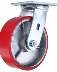 6-Inch-Swivel-Caster-6-X-2-Polyurethane-on-Iron-Wheel-1200-Lb-Weight-Capacity-0