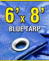 6-X-8-Blue-Multi-purpose-6ml-Waterproof-Poly-Tarp-Cover-with-Tent-Shelter-Camping-Tarpaulin-By-Prime-Tarps-0