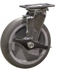 8-Inch-Swivel-Caster-with-Brake-8-x-2-Flat-Tread-Thermoplastic-Rubber-Wheel-600-Lb-Capacity-0