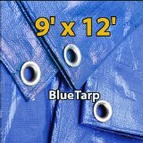 9-X-12-Multi-purpose-6ml-Waterproof-Poly-Tarp-Cover-for-Tent-Shelter-Camping-Blue-By-Prime-Tarps-0