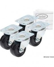 Caster-Classics-2-inch-Low-Profile-HD-Rubber-Wheel-Plate-Casters-4-Pack-0