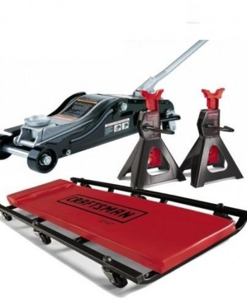 Craftsman-Floor-Jack-Creeper-and-3-Ton-Jack-Stands-0